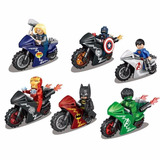 Set Figuras Lego Superheroes Con Motos
