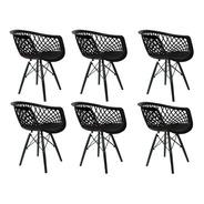 06 Cadeira De Jantar Web Cloe  Base Dsw Pp - Mercado Envio