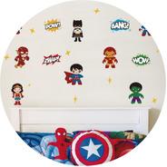 Vinilos Decorativos Superheroes Spiderman Superman Hulk