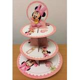 Torre Y 25 Pirotines Nº10 Para Cupcakes De Minnie Bebe