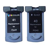 Kit 2 Cartuchos Pg 40 + 41 Ip1900 Ip2200 Ip2500 Ip+ Brinde.