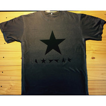Remera Blackstar David Bowie Gris