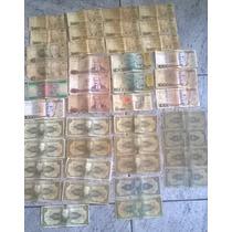 42 Cédulas Notas Antigas Cruzeiro Cruzado Todas Por R$120