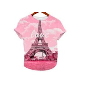 Playera Blusa Casual Postal Paris Dama Full Print Love
