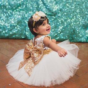 Vestido De Fiesta Para Niña Niñas Tul Moño Brillante