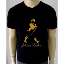 Camiseta Johnny Walker - Camisa Jack Daniels, 100% Algodão