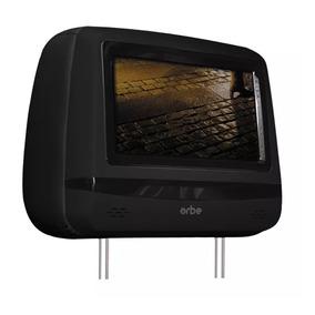 Encosto De Cabeça Orbe Com Monitor Lcd 7 Com Dvd Preto
