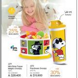 Set Vaso Snoopy+recipiente Toque Magico Snoopy Tupperware