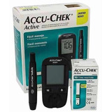 Kit Glucometro Accu Check Active 10 Test 10 Lancetas +envio