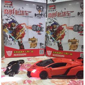Transformers 5 Controle Remoto Samurai Drift Carro Vermelho