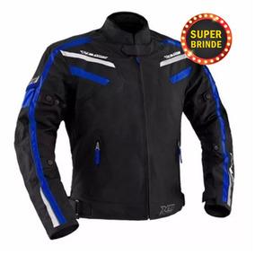 Jaqueta X11 Iron Preto Azul Motociclista M Impermeável Moto
