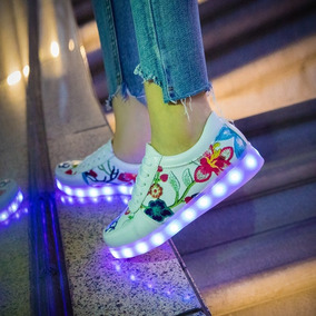 Zapatillas Luces Led Modelo Guccii 2018 Usa Con Usb