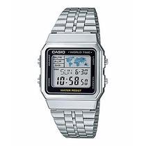 Reloj Casio A500wa Silver Vintage Retro Crono Alarma