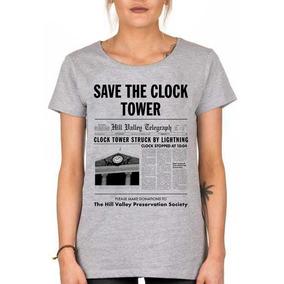 Remera Mujer Volver Al Futuro Save The Clock Tower Local!