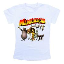 Camiseta Infantil Madagascar Bn315