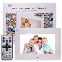Porta Retrato Digital 7 Foto Video Mp3 Mp4 Controle Remoto