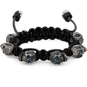 Bomberg Skully Bracelet Swarovski Black & Blue S20 Diego Vez