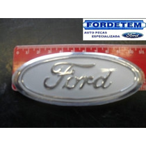 Emblema Ford Grade * Branco Cromado* Escort/ Del Rey