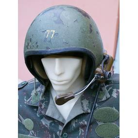 Militaria - Capacete De Piloto De Blindado