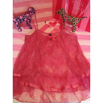 Victorias Secret The Pink Lace Tunic Baby Doll Sz S