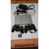 Playstation 2 Chipeado Con 2 Controles Cargador Y Cables