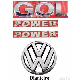 Emblema Gol + Laterais Power + Vw Grade - G4 Geração 4