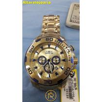 Relógio Invicta Pro Diver Plaque Ouro E Fundo Azul Ref 22320