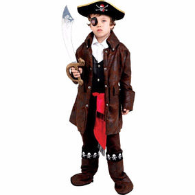 Fantasia Infantil Masculina Pirata Do Caribe Red Circus