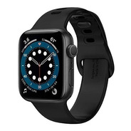 Malla Spigen Silicone Fit Apple Watch 40mm O 38mm Negra