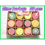 36 Crystal Slime Barrel Burbuja Colores Moco Gorila Frutas