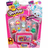 Shopkins Pack De 12 Unidades + Mini Valija Original Serie 4