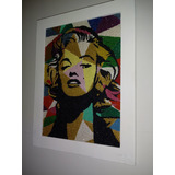 Quadro Marilyn Monroe Areia Colorida 26x35cm