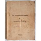Libro Sentencia Judicial Sobre Testamento Ológrafo 1937