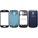 Carcaça Completa +vidro Frontal Samsung Galaxy S3 Mini I8190