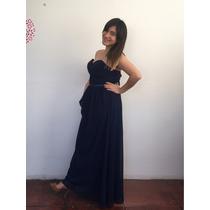 Vestido Largo Azul Noche Para Matri, Promociones, Graduacion