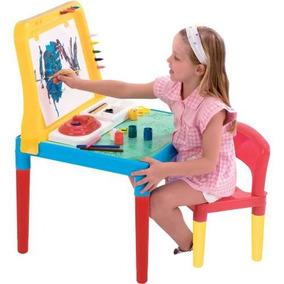 Mesinha Didática Infantil Lousa Do Pequeno Artista Bell Toy