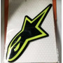 Adesivo Resinado Alpinestars 3d - 9cm - Preto/verde
