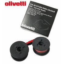 Fita Dupla P/ Calculadora Olivetti Logos Bicolor - Original