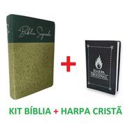 Bíblia Sagrada Letra Gigante Sbb Verde Oliva + Harpa Brinde