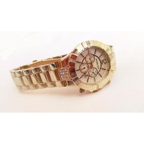 Hermoso Reloj Mk Dorado Con Fechador Envio Gratis