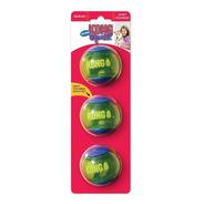Kong Squeezz Action Ball Medium Medio Brinquedo Bola Cães