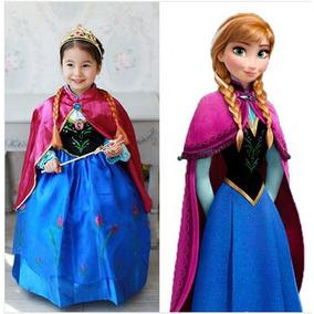 El Mas Bonito Vestido Frozen Ana Con Corona Y Envio