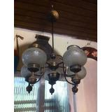 Lustre Luminária Vidro Lapidado Arte Deco Anos 40/50