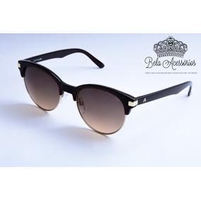 Atitude Óculos De Sol Marrom Degrade Metal Acetato Brilho 3ba3976ce7