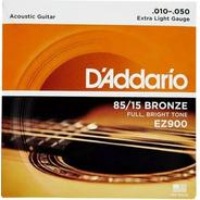 Encordado Guitarra Acústica Daddario Ez900 .010 85/15 Bronze