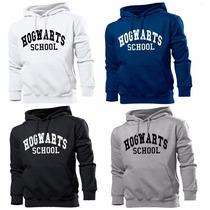 Blusa Moletom Hogwarts School Harry Potter - Frete Grátis