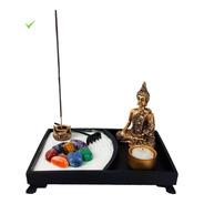 Jardim Zen Buda Castical Porta Vela Nirvana Yoga Resina