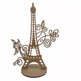 30 Centro De Mesa Torre Eiffel Com Borboleta Mdf Cru