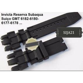 Pulseira Invicta Reserve Subaqua 6180 6182 6177 6178 Preta