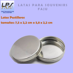 Lata Pastillero Para Souvenirs 7,5x2,2 Cm